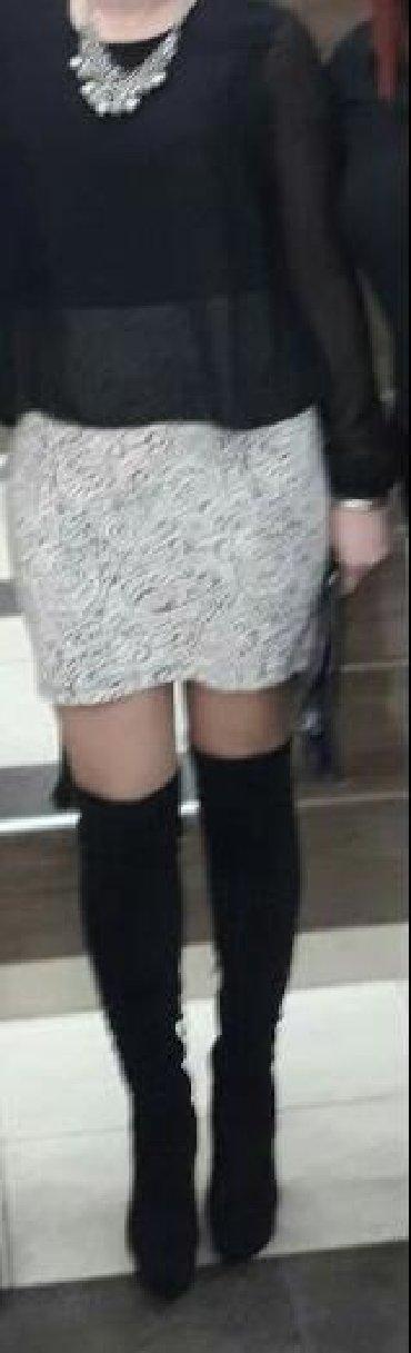 Ženska odeća | Priboj: Haljina 40 vel.Gornji deo kao bluza malo sira donji deo uska