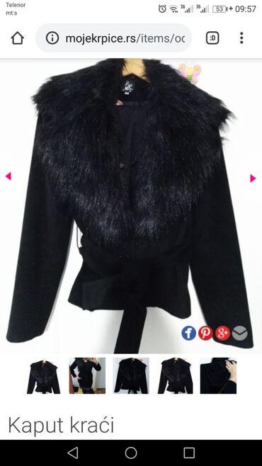 NOVA jakna - kraći kaput,vel. L, jako kvalitetan, krzno se skida