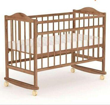 бу детские кроватки в Кыргызстан: Продаю кроватку детскую. Возраст с 0-12 лет,матрац местный в