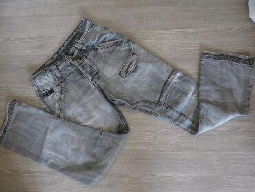 Pantalone i farmerice komad - Srbija: OKAY sive farmerice za decake 164/170 Odlicne cepkane farmerice