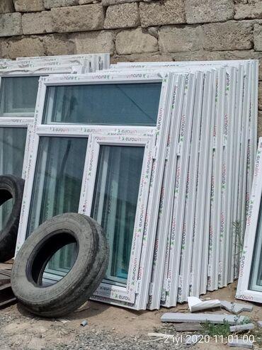 120×140 = 85 manat 1 eded Teze plastik pencerelər Binə sovxoz Ulvi