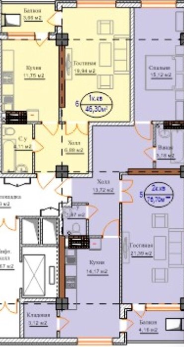 Срочно продаю 4-х комнатную квартиру! ПСО АВГУСТ 2018 года! в Бишкек