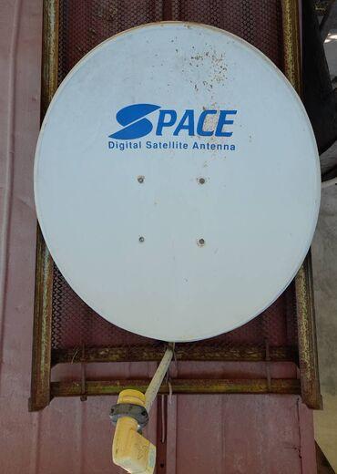 Спутниковая антенна и приемник на два выхода и два ресивера. Кабель 20