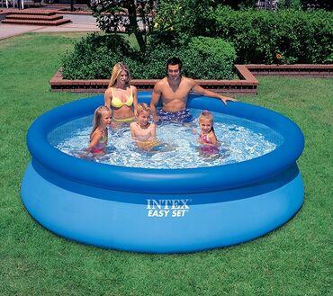 Спорт и хобби - Аламедин (ГЭС-2): Бескаркасный надувной бассейн. 3 м диаметр. Высота 76 см. Для установ