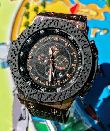 Hublot sat,  nerdjajući čelik, silikonska narukvica, sa datumom, u