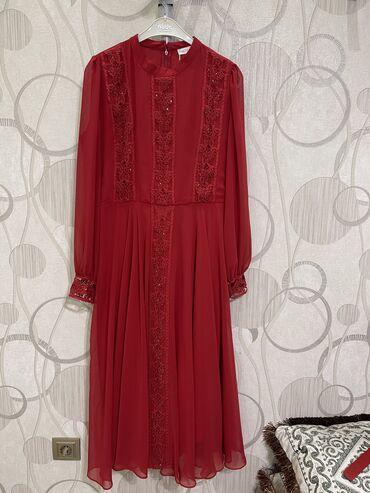 Абсолютно новое платье в сочном красном цвете! 42 размер, французкая