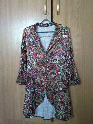 Рубашки и блузы - Кок-Ой: Материал сатин цветочный принт