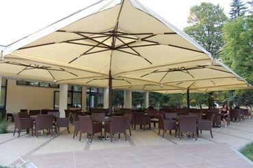 зонты для кафе в Кыргызстан: Рядом с вашим рестораном стоит пергола или на фасаде смонтированы выдв