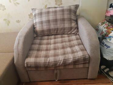 продам кресло кровать in Кыргызстан | ДИВАНЫ: Продается кресло-кровать, размер спального места 75×177см, реальному