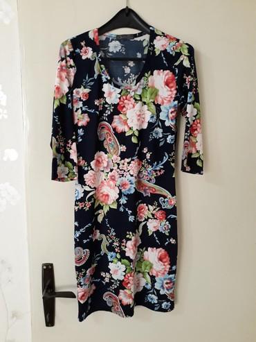 Teget,cvetna haljina,duz.92 cm....POGLEDAJTE I OSTALE MOJE OGLASE - Smederevo