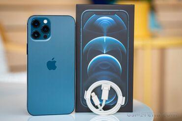 Apple Iphone - Состояние: Б/У - Бишкек: Новый iPhone 12 Pro 128 ГБ Синий