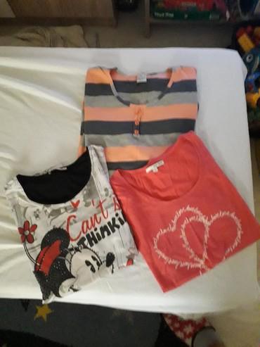 Koncana-roza-m-majica - Srbija: Paket zenskih majica 2 su xl,roza m ocuvane