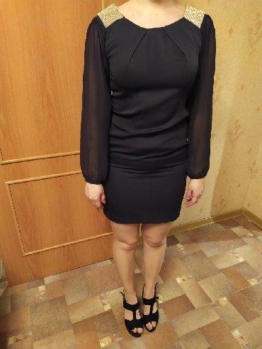 темно синее в Кыргызстан: Платье офисное темно синее, 42- 44 размер