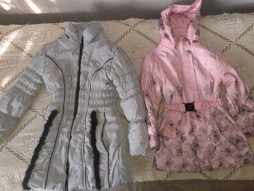 Куртки 2 зимние и 2 дэми на девочек 8,7,6 лет состояние среднее меняю