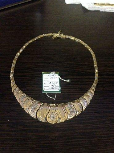 цепочка с клончикам в Кыргызстан: Ожерелье, Колье,цепочка,золото Италия новый, проба750 вес 23.06г