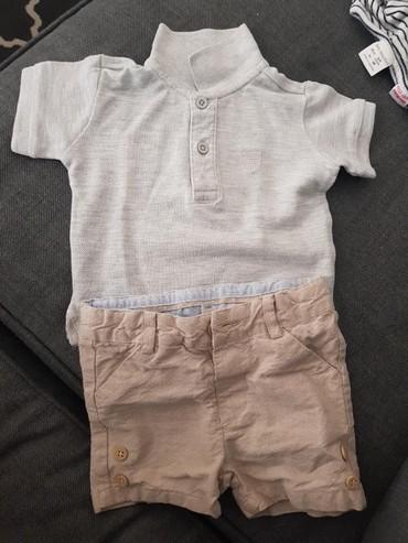 Komplet majica i bermude 3 meseca - Crvenka