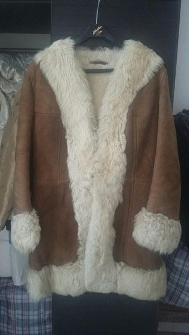 Prelepa poluduga bunda od prirodnog krzna i koze.velicina 40.odlicna - Bogatic