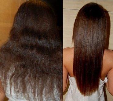 Bakı şəhərində Keratin pure ile saç düzleştirme. Keratin 4-6 ay müddətində öz effekti