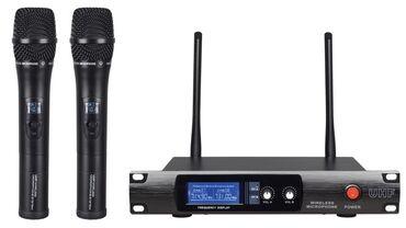 Karaoke mikrafonlar 2 eded butun karaoke klublarda olandan say var