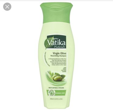 Bakı şəhərində Vatika zeytun yağı tərkibli şampunu; saçları