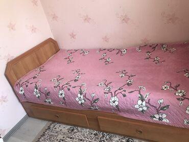 Шифоньер + кровать с задвижкой для белья(размер 1.10*2). Матрас абсолю