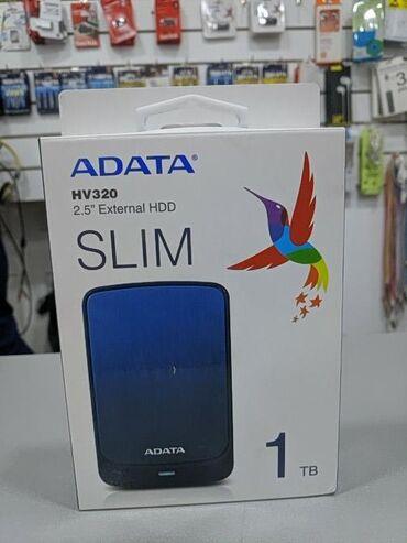 внешний жесткий диск 320 gb в Кыргызстан: Внешний жесткий диск ADATA HV320 1TBЕмкость 1ТБИнтерфейс USB 3.2Цвет