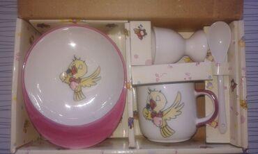 Набор детской посуды (новый). Подойдет на подарок