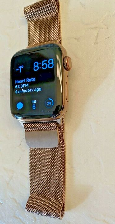 Apple Watch Series 4 44 mm Gold Stainless Steel Case with Gold