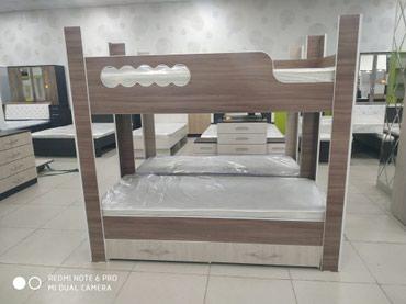 Двухъярусная кровать 190*80 без матраса 7000 с матрасом 12000 в Бишкек