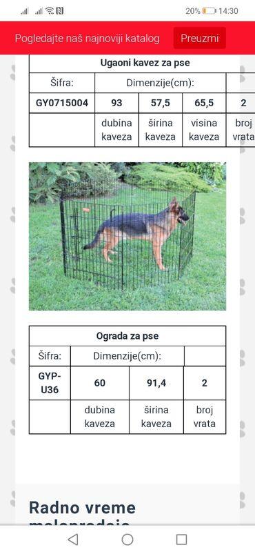 Kućni ljubimci - Srbija: Ograda za pse. Ima 8 stranica za rasklapanje, podesiva veličina