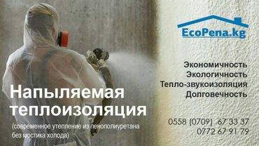 ЗАПЕНИМ ВСЕ! Напыляемая теплоизоляция! + Экономичность  +Экологичность в Бишкек