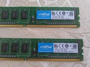 Elektronika Naxçıvanda: Stolüstü komputer üçun ram.DDR3 1600 Mhz Hər biri 4 gigabytedir