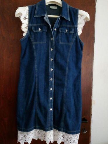 Haljine   Bogatic: Teksas haljina sa cipkom L velicina