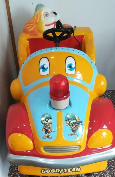Kosa na klipse - Kula: Autić za decu, na žeton. Perfektan, malo korišćen, za zaradu u dečijem