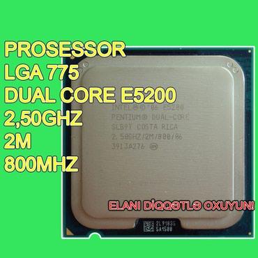"""Bakı şəhərində Prosessor """"Dual Core E5200"""" (İşlənmiş)"""