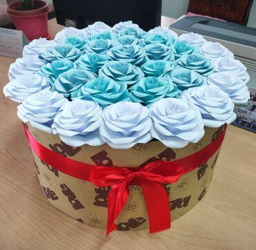 гул букет в Кыргызстан: Цветы из бумаги на заказКагаздан гулдор зааазга жасайбыз35шт