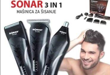 Aparati za brijanje - Srbija: SONAR 3u1 set ⚀ Trimovanje ⚁ Brijanje ⚂ Šišanje  AKCIJSKA cena 1800