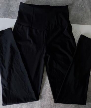 Crne pantalone - Srbija: Helanke mokra likra, duboki struk, samo oprane i probane. Jako udobne