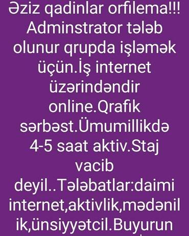 Bakı şəhərində Evdə iş