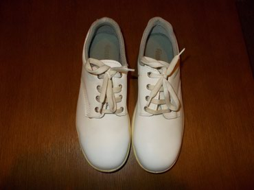 Mesar - Srbija: Radne cipele bele boje br. 41 od prirodne kože, sa ojačanjem