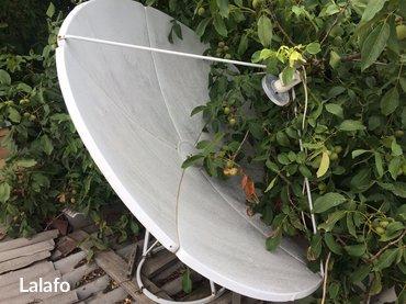Спутниковая тарелка с головками и ресирвером. С. Ленинское