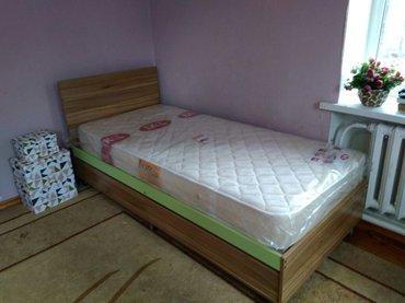 кровать  односпальная с удобными выдвижными ящиками для белья. размер  в Бишкек