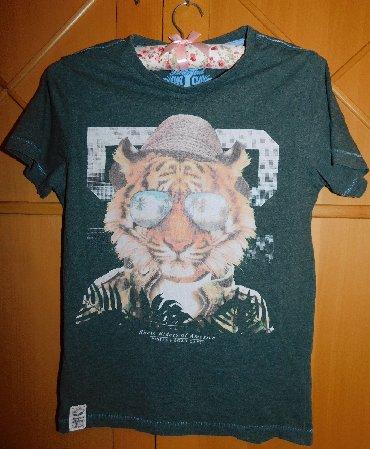 Majica-decija - Srbija: Majica pamucna, decija tamno zelena, Vintage, 146/152 cm visine
