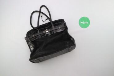 Аксессуары - Киев: Жіноча сумка з замшевою вставкою    Висота: 29 см Довжина: 41 см Глиби