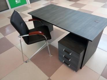 стол большой для дома в Кыргызстан: Офисный стол 140*70, с тумбочкой на роликах, Для офиса и для