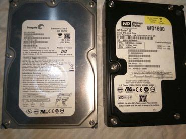 Hdd жесткие диски / sata / Seagate 200Gb 700 сом / WD 160 Gb 600 сом в Бишкек