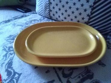 Prelepi zuti ovali od keramike za posluzivanje,koristeno par puta,vidi - Sombor