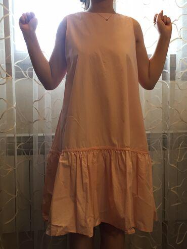 Платье х/б розовое,лёгкое,воздушное.Не чувствуется на телеНа лето