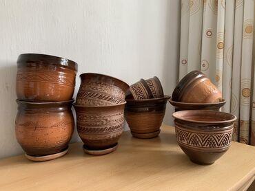 Большой выбор глиняных и керамических вазонов и Горшков для цветов и р