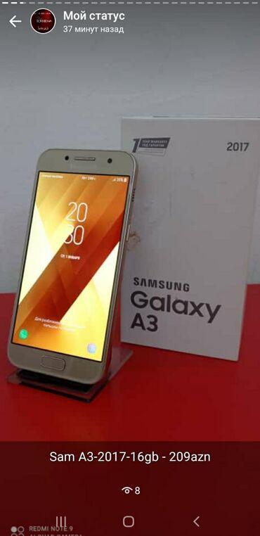 Samsung galaxy a3 - Азербайджан: Б/у Samsung Galaxy A3 2017 16 ГБ Золотой